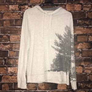 American Eagle classic fit hooded long sleeve top